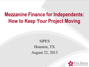 Mezzanine Finance for Independents